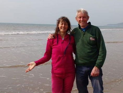 Katherine and Stewart at Camino Devon UK